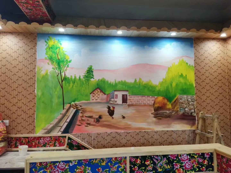 宜春室外墙体喷绘,宜春彩绘古建,宜春手绘墙绘,宜春彩绘画,宜春手绘墙公司